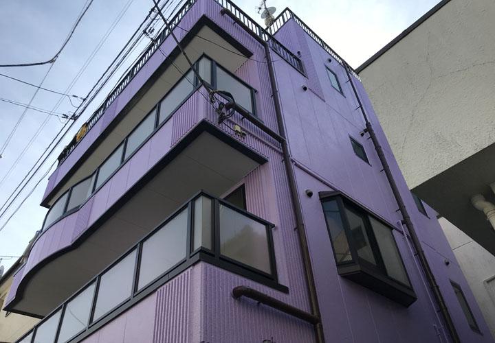 江戸川区南篠崎町にてパーフェクトトップの85-70Lで外壁塗装を行い和やかな印象の建物に!