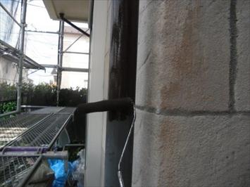 雨樋の塗装工事