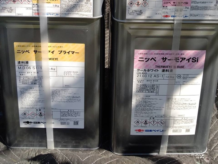日本ペイントのサーモアイSiクールホワイト