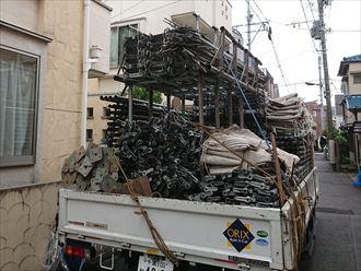 足場作業車の駐車位置