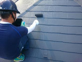 屋根,上塗り