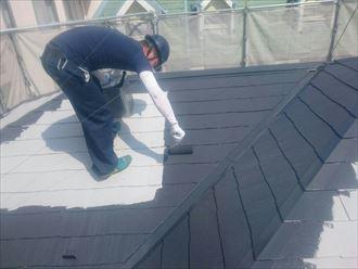 屋根,中塗り