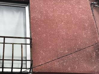 モルタル外壁への雹痕