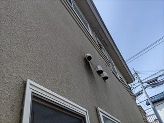 吹き付け仕上げの外壁