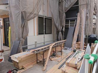 外壁サイディングカバー作業