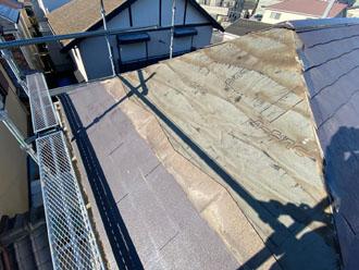 被災部復旧工事前の屋根