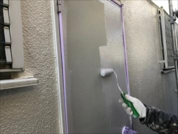 勝手口ドアの塗装