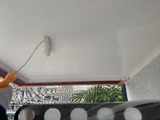 軒天塗装はケンエースを使用