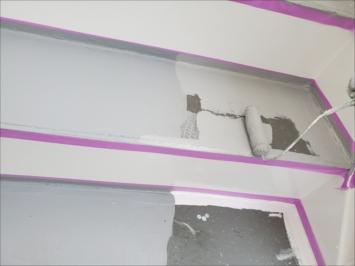 半分ずつ塗装