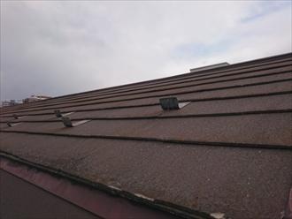 スレート屋根は反りは殆ど出ていません