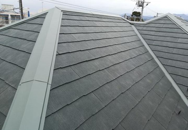 コロニアルグラッサでの屋根葺き替えが完了