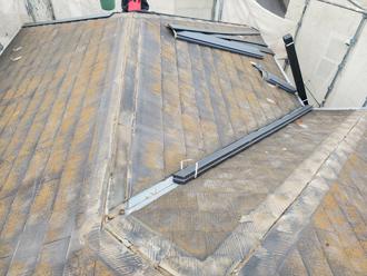 棟板金と貫板を撤去