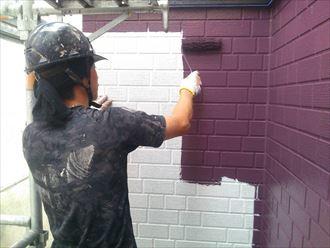 一階サイディング中塗り