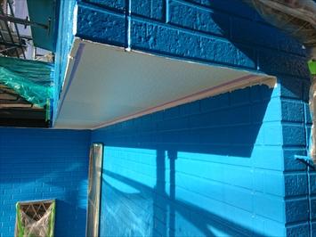 外壁のブルーと白が生えます