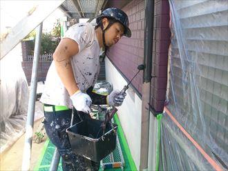 残り雨樋塗装
