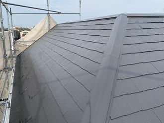 棟板金交換工事 屋根塗装 工事後