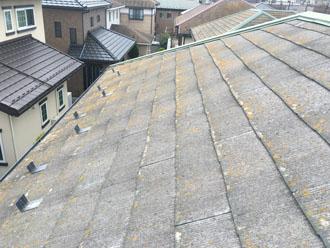 コロニアル屋根は防水機能が低下しています