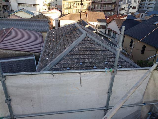 近隣の屋根も雹紋