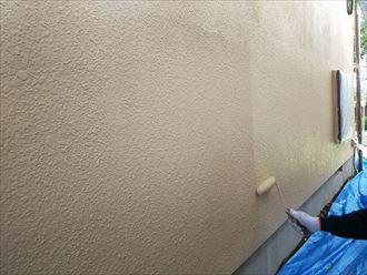 葛飾区金町で行った外壁塗装工事でナノコンポジットWで上塗りを実施