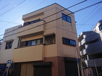 外壁塗装前の鉄骨造(S造)3階建て
