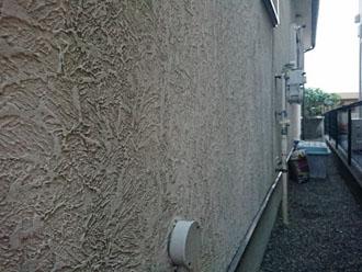 北側のモルタル外壁には藻が発生していました