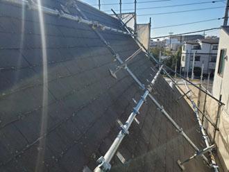 屋根用足場設置