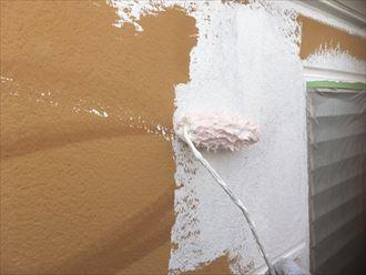 ALC外壁の下塗り