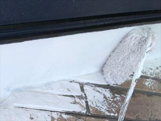 軒天塗装の実施