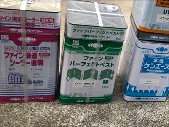 ファインパーフェクトベストの塗料缶