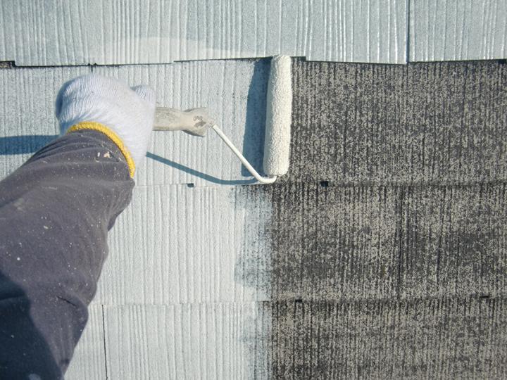 スレートの下地塗装