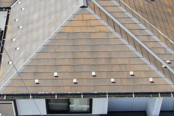 屋根に汚れやコケの付着