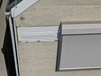 足立区中川にて台風でサイディング外壁が落下し火災保険を適用した外壁張替え工事をご検討されていました