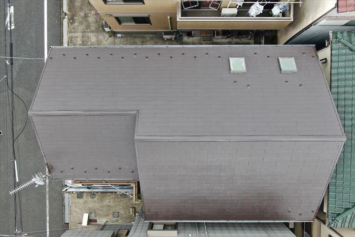上から見た屋根塗装