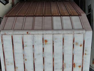 トタン製屋根の錆び