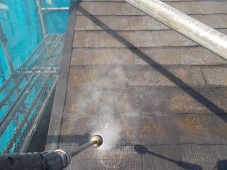 江東区 屋根塗装 高圧洗浄