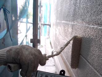 江東区 オーデフレッシュSiで中塗りと上塗りを行う