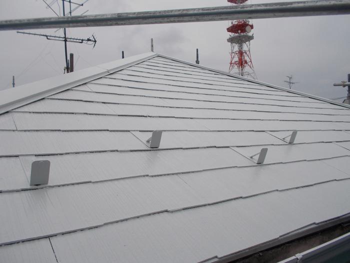 江東区 屋根塗装 完了