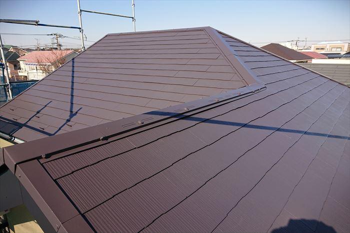 屋根塗装完了です!