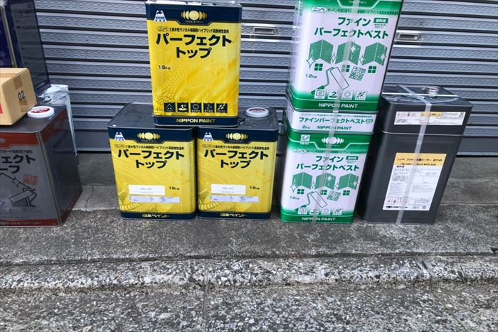パーフェクトシリーズの塗料缶