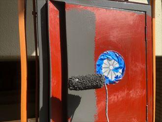 ファインシリコンフレッシュによる鉄部塗装