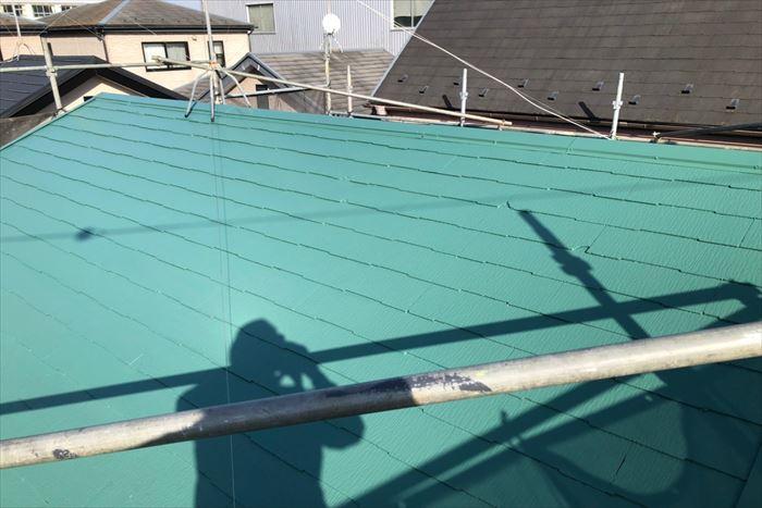 ミラノグリーンの屋根塗装