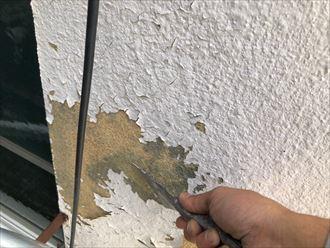 外壁表面のケレン作業