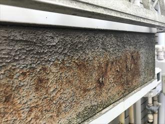 外壁の変色と剥離