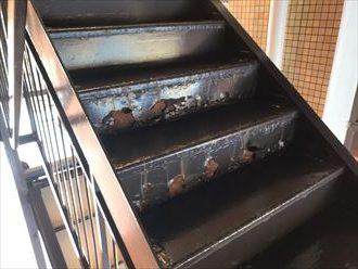 江戸川区西葛西で鉄製階段のメンテナンスのご相談、現地調査にお伺い致しました