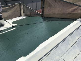 サーモアイ4Fで屋根塗装