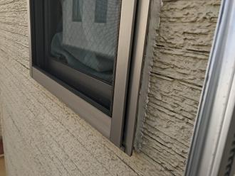 2階の窓下部の補修