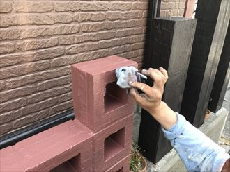 ブロックの塗装