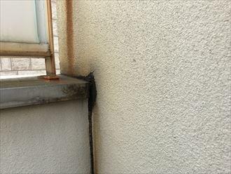 外壁に水の流れの形跡