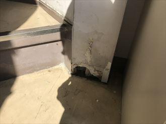 内壁に雨漏り症状
