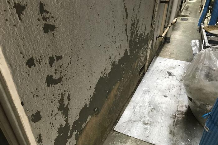 外壁の表面剥離